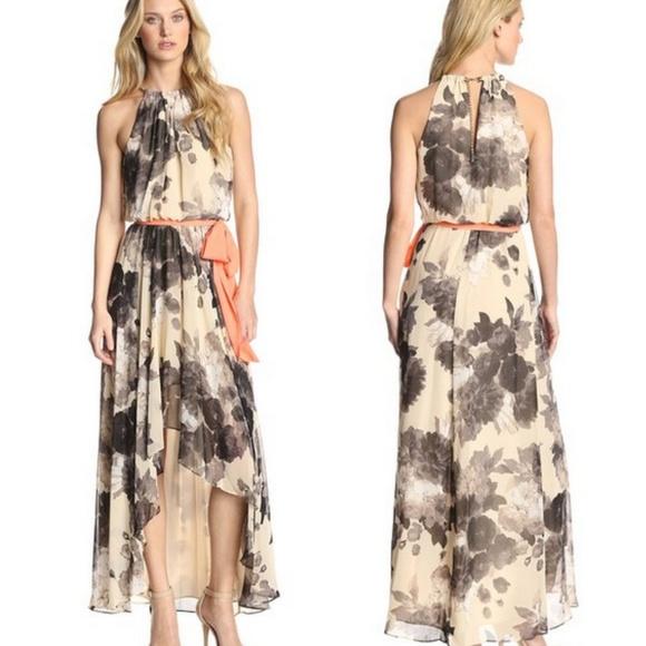 837c1141f73b1 Eliza J Dresses   Skirts - ELIZA J (Nordstrom) Floral Chiffon Hi-Low